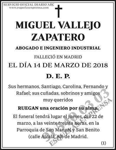 Miguel Vallejo Zapatero